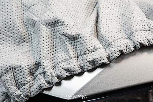SOFTGARAGE 5-lagig lichtgrau Premium Indoor Outdoor atmungsaktiv wasserabweisend Car Cover Vollgarage Ganzgarage Autoplane Autoabdeckung111010-A000113
