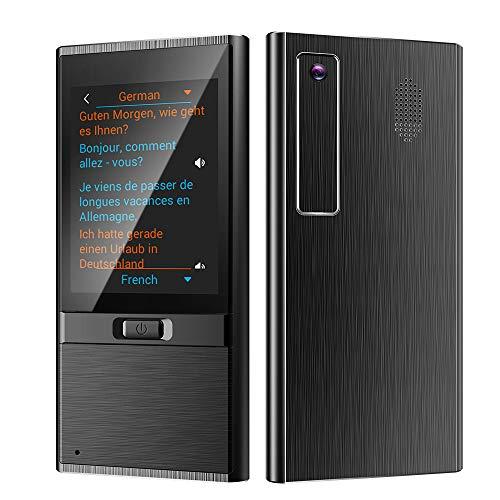 Traductor de voz instantáneo de 136 idiomas con pantalla táctil HD de 2.8 , Traductor Portátil Conectado a Wi-Fi, Traductor de fotos multilingüe para regalos de comunicación de viaje Viajes(Black)