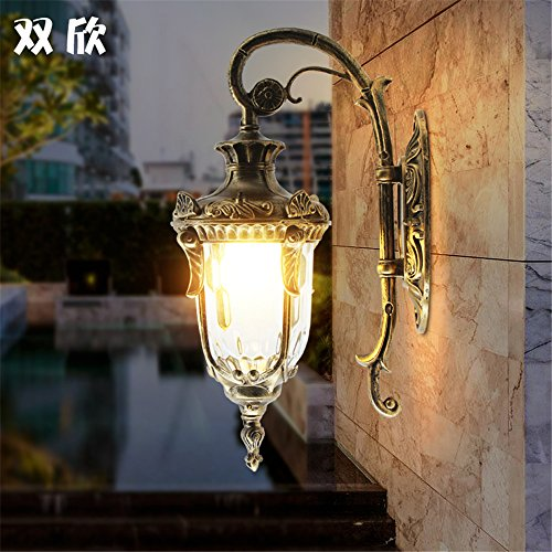 YU-K Chambre Simple Vintage wall lamp creative living salle à manger chambre lumières lumières allée piscine balcon Jardin lampe murale étanche lampe murale de jardin lampe murale corridor extérieur rétro porte lampe de mur extérieur de l'allée (23 * 42cm)