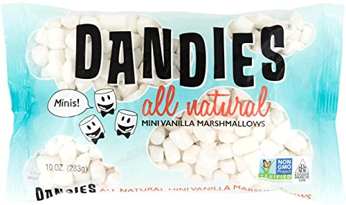 Dandies - Minis - Vegan Marshmallows, Vanilla, 10 Ounce (Pack of 2) from Chicago Vegan Foods