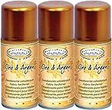 HygienFresh Oro & Argan - Spray Deodorante Professionale Tessuti Ambiente Auto Cassetti Scarpe Armadio Profumo Hotel Palestra Accessori Lavanderia - 3 Pezzi da 150 ml