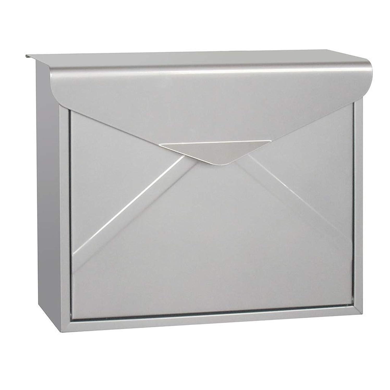 名誉ある前提条件おもしろい14.96in X4.92in X11.57inポストボックス立方体鉄シートメールボックス外部のパーソナライズされたレターボックス/シルバーColorLetterboxesアクセサリーアメリカンスタイル