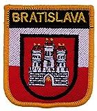 1000 Flaggen Bratislava mit slowakischem Schild, Bestickt