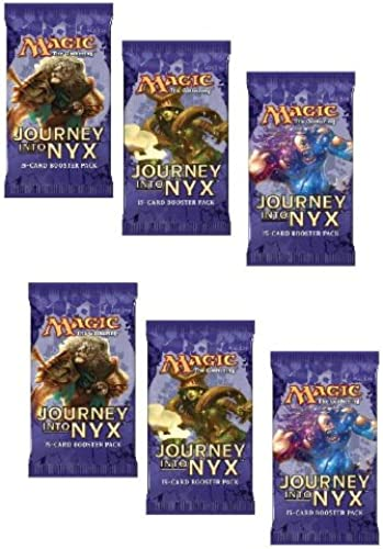 6 (Six) Packs of Magic  the Gathebague - MTG  Journey into Nyx Booster Pack Lot (6 Pack Lot)
