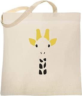 Giraffe Big Animal Face Cute Funny Large Canvas Tote Bag Women