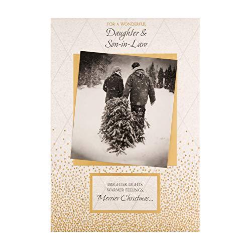 Hallmark Weihnachtskarte für Tochter und Schwiegersohn von Hallmark – festliches Fotodesign