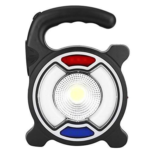 Fdit COB Solarbetriebene LED Handleuchte Warnleuchte Taschenlampe Taschenlampe Notlicht Outdoor Camping Wandern Notlicht