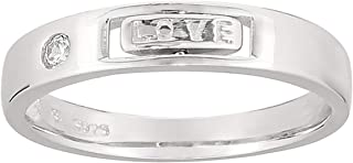 Ak Silver Unisex Promise Valentines Ring - 9 US