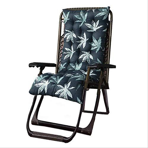 Recliner Rocking Chair Mat Lounger Recliner Cushion Garden Furniture Patio Chairs Pad Cushion Elderly Chaise Longue Mattress 48x155cm green