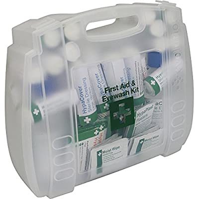 Safety First Aid Group First Aid and Eyewash Kit for 1-10 Persons from Safety First Aid Group