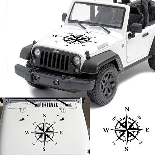 MOMOALA 50X50Cm Brújula Patrón Coche Capucha Pegatinas Vinilo Calcomanías Universales para Jeep para Wrangler Rubicon Jk Cj