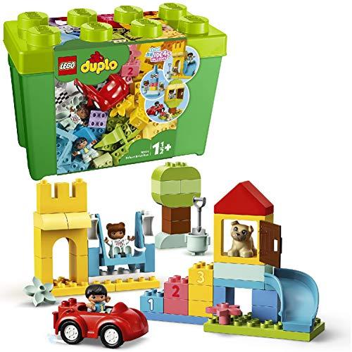 LEGO Duplo Classic - Contenitore di Mattoncini Grande con due Personaggi e dei Mattoncini per Coinvolgere le Giovani Menti dei Bambini, Set di Costruzioni per Bambini già da +1 Anno e Mezzo, 10914