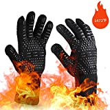 OrgaWise Guantes Barbacoa BBQ Gloves Extremadamente Resistentes hasta 1472 ℉ /...