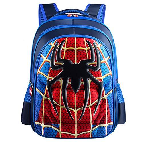 子供 リュック Yuan Ou 少年スーパーマンバットマンスパイダーマンキャプテンアメリカ子供の幼稚園ランドセル36 * 30 * 15cmブルースパイダーマンBM