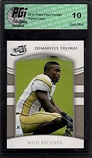 DEMARYIUS THOMAS Press Pass Portrait Rookie Card PGI 10