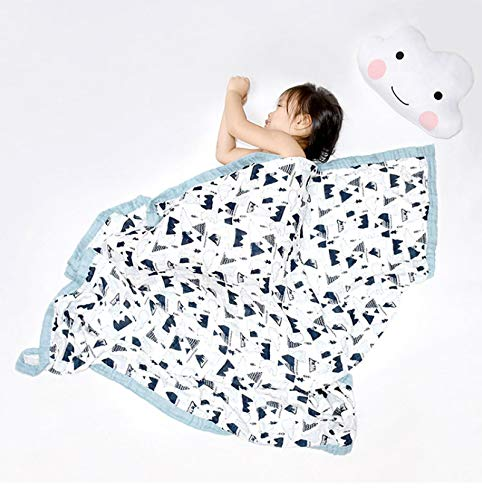 Manta de Muselina de algodón para bebé Toalla de baño para niños Ropa de Cama Infantil para bebé recién Nacido Manta Abrigo Infantil 120X120CM