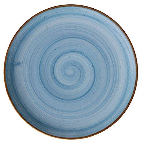 Corona Llano Coupe Plato, Porcelana, Azul, 28 cm
