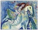 Marc Chagall Poster der reitera dancer an der circu