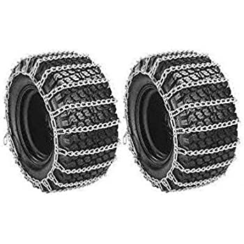 Welironly Pair 2 Link TIRE Chains 23x10.50-12 for Simplicty Lawn Mower Garden Tractor Ride,#id(theropshop; TRYK60271680541706