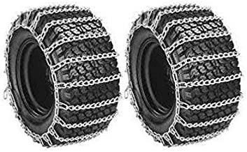 PAIR 2 Link TIRE CHAINS 23x8.50x12 for Toro Wheel Horse Lawn Mower Tractor Rider ,,#id(theropshop; TRYK80271680552425