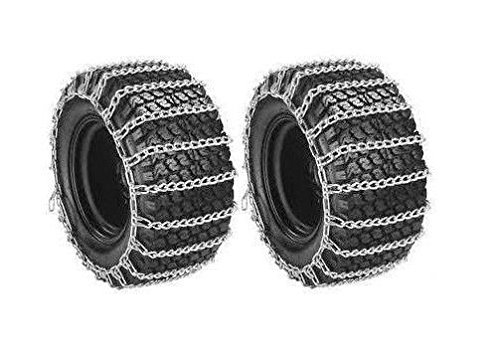 Welironly Pair 2 Link TIRE Chains 23x10.50-12 for Sears Craftsman Lawn Mower Tractor Rider,#id(theropshop; TRYK60271680554774