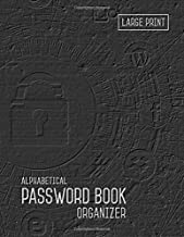 Password Book Organizer Alphabetical: 8.5 x 11 Password Notebook with Tabs Printed | Smart Black Design