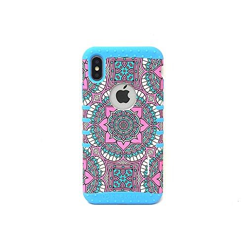 KOOL KASE Tribal Series 1 Phone Case for iPhone X/XS (Blue)