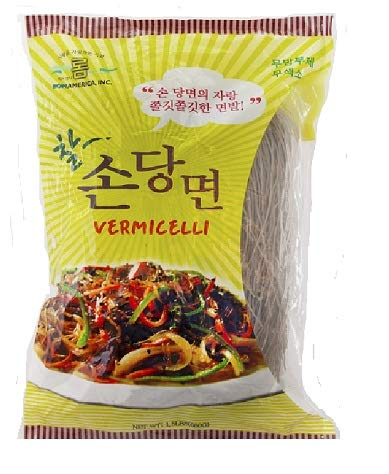 ROM AMERICA Sweet Potato Starch Glass Noodles, Korean Vermicelli (20 OZ x 1 Bag)