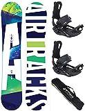 AIRTRACKS Snowboard Set - Tabla Aero 153 - Fijaciones Master...