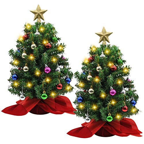 Joiedomi 20' Tabletop Christmas Tree with Decoration Kit, 2 Sets