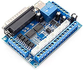 Ningbao 5 ejes CNC Breakout Board Controlador de motor paso a paso MACH3 Controlador de módulo de control de puerto paralelo con acoplador óptico Cable USB