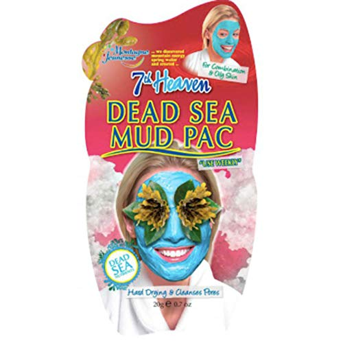 7th Heaven Dead Sea Hard Drying Mud Face Mask with Lavender and Seaweed for Ultra-Deep Pore Cleansing, Perfect for Normal, Combo and Oily Skin (12-pack)
