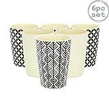 Rink Drink Vaso Reutilizable y ecológico para Fiestas - Bambú - 3 diseños - 350ml - Pack de 6