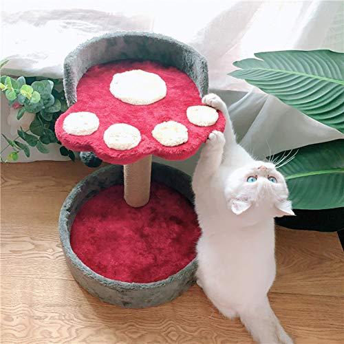 HHXXTTXS Außenhandel Exporte in die Vereinigten Staaten niedliche Katze Klaue kleine Katze Klettergerüst Blumen Katze Kratzbrett Wein rot kreative Katze Wurf Katze Paradies