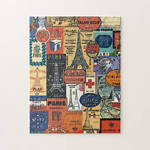 CICIDI Paris, France Travel Stickers Jigsaw Puzzle 1000 Pieces for Adult Entertainment DIY Toys , Graet Gift Home Decor