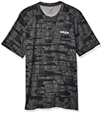adidas Herren Essentials All Over Printed T-Shirt, Black, XL