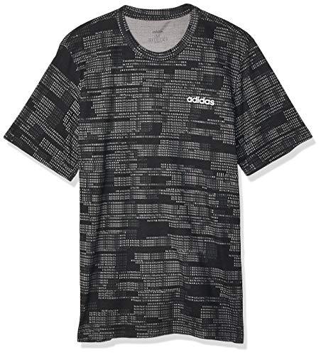 adidas Herren Essentials All Over Printed T-Shirt, Black, M