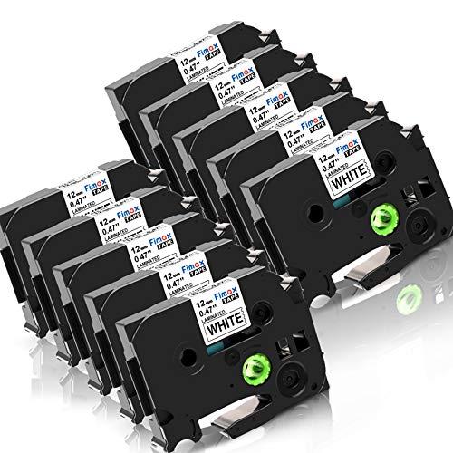 Fimax Kompatibel Schriftband als Ersatz für Brother TZe231 TZe-231 TZ 231 12mm 0.47 Beschriftungsband für P-touch PT-D400 P700 PT1010 PT1000 H101c PT-P900 Label Makers chriftband Schwarz auf Weiß, 10x