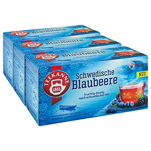 Teekanne Schwedische Blaubeere, 3er Pack