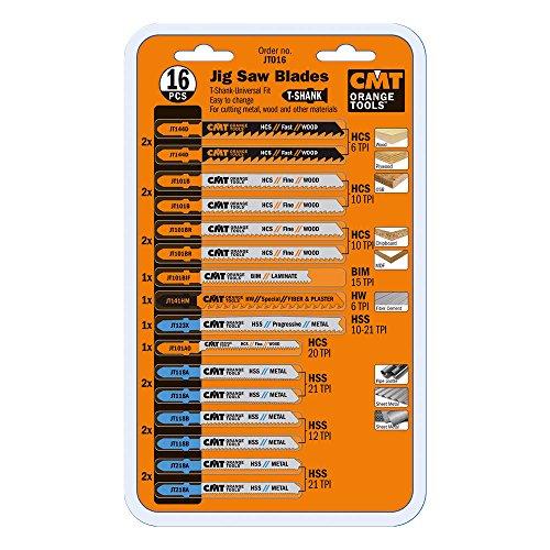 CMT jt016Juego de sierra caladora Set, t-shank (16piezas)