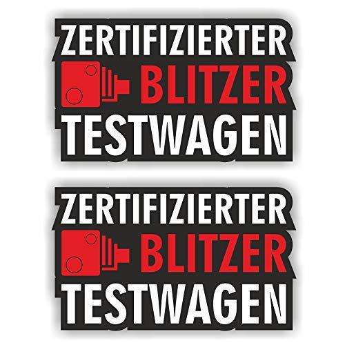 folien-zentrum 2X Blitzer Testwagen autoadhesiva Shocker Mano Auto JDM Tuning Dub Decal Stickerbomb Bombing Sticker Illest Dapper Fun Oldschool