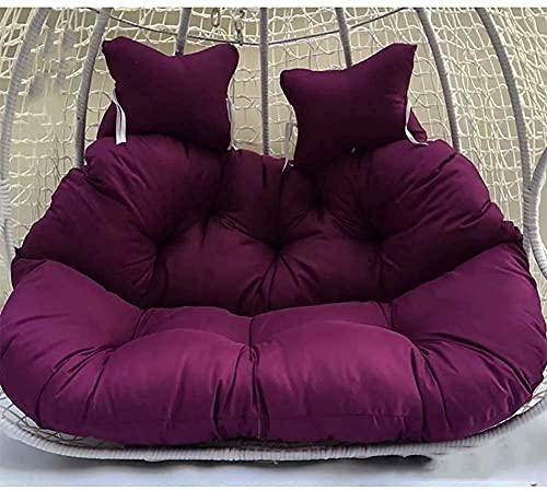 ZRBD-ds Cuscino per sedia a uovo a doppia sospensione, spesso cuscino per dondolo da appendere, con cerniera da giardino, lavabile senza sedie S (colore: fucsia)