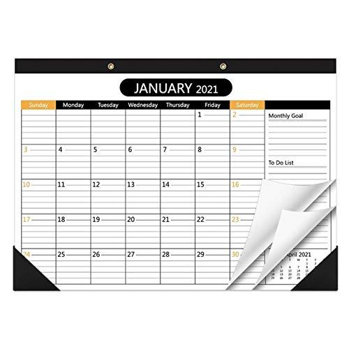 hgkl Calendario 2021 2021-2022 Calendario de Escritorio 2 años Planeador mensual Corre Desde enero 1,2021 a 31,2022 Calendario de Escritorio/Pared para organización y planificación