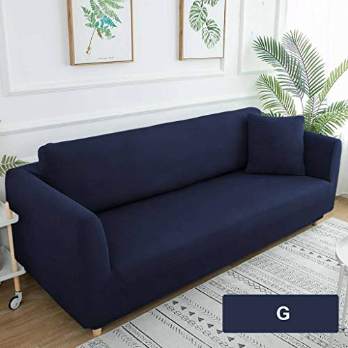 JHLD Stretch Sofa Cover, Modern Pure Color Couch Cover Elastic Washable Sofa Slipcover For 3Seat L Shape Kids-G-chair 90-130CM(35.5-51in)