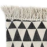 GJEFEGS vidaXL Kelim-Teppich Baumwolle 120x180 cm mit Muster Schwarz/Weiß - 2