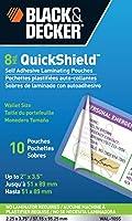 Black + Decker quickshield自己粘着レターサイズLaminatingシート、3-mil、50パック(let-50shss) 10 Pack