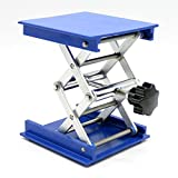 OESS Lift Table Aluminium Oxide Lab Stand Lifter Scientific Scissor Lifting Jack Platform 8''X 8''