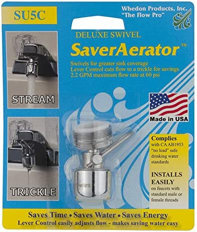 depot Whedon Aerator With Lever Control 2.2 5 ☆ popular Bl Chrome Brass Gpm Plated