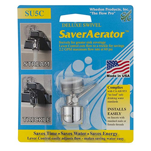 Whedon Aerator With Lever Control 2.2 Gpm Brass,Chrome Plated Blister
