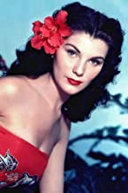 Debra Paget in Bird of Paradise bare shouldered in tropical dress red flower 24x36 Poster